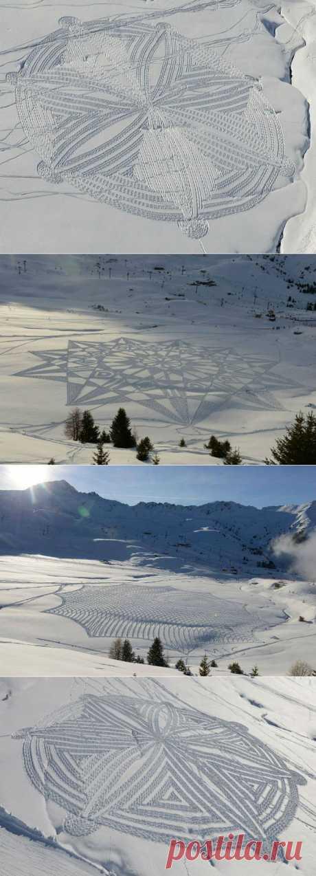 (+1) тема - Абстракции на снегу | СВОИМИ РУКАМИ
