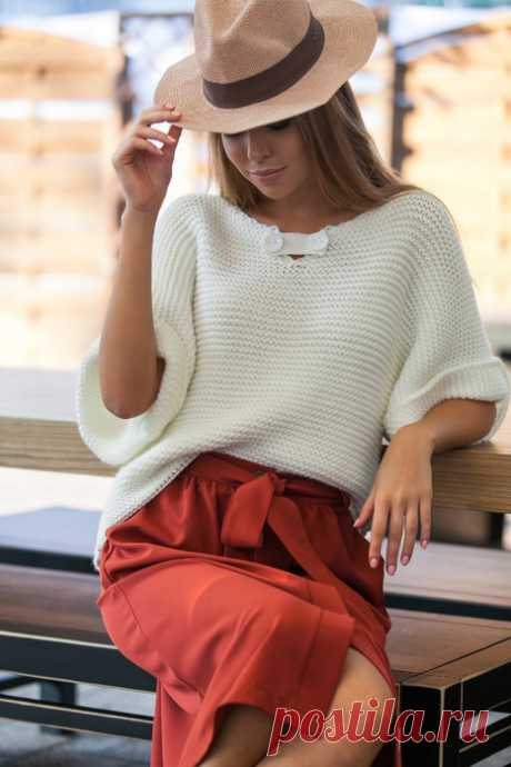 Пуловер спицами. Идея.