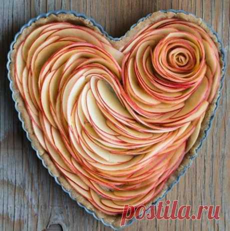 Вот как нужно выкладывать яблоки в пирогах!   Четыре вкуса
