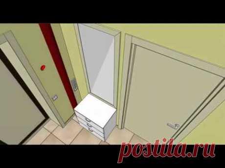 3d модель квартиры 44 м2 для технического дизайна. Казань