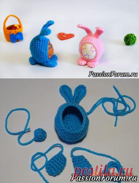 Пасхальный сувенир - кролик Мими | Вязаные крючком аксессуары
