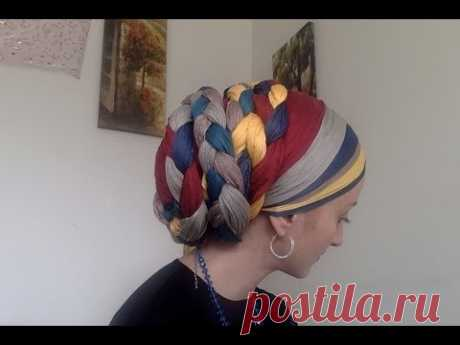Crazy Intricate Wrapunzel Braided Tichel with 2in1s!!