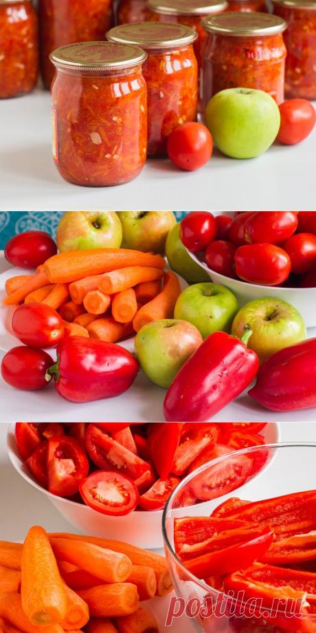 Аджика с яблоками и помидорами без стерилизации - как приготовить аджику с яблоками на зиму, пошаговый рецепт с фото