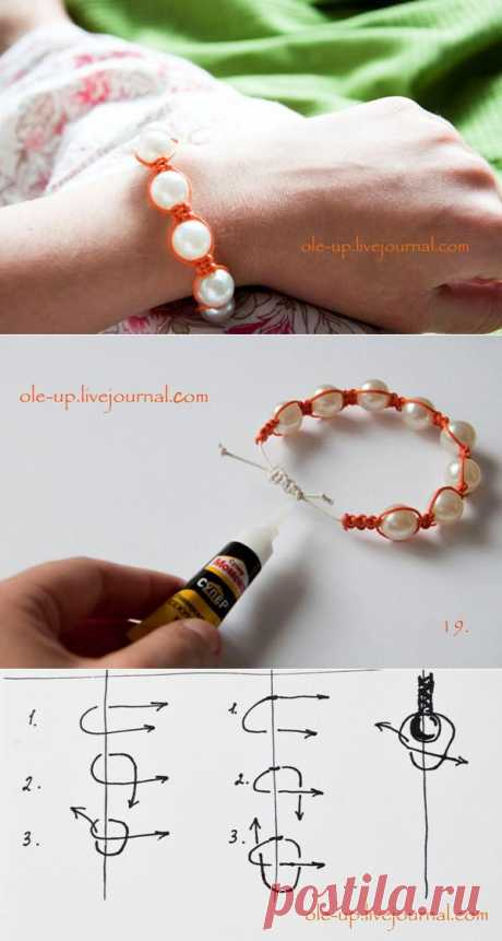 """For teapots step-by-step master class """"шамбала &quot bracelet;"""