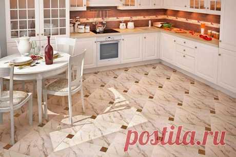Напольное покрытие для кухни: что выбрать