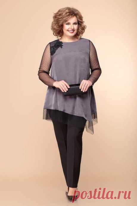 Колекция одежды для полных женщин белорусского бренда Romanovich Fashion Style осень-зима 2019-2020