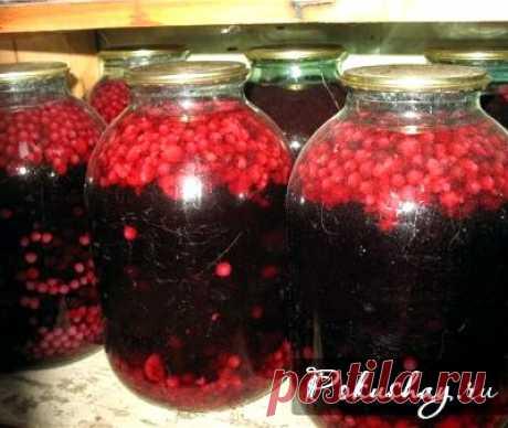 Компот из черной смородины и малины рецепт на зиму
