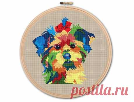 Yorkshire Terrier Counted Cross stitch Pattern PDF Cross   Etsy