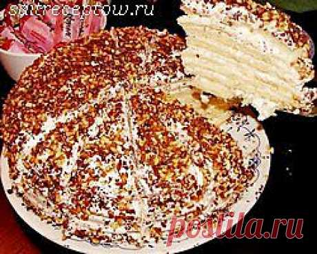 Торт сметанник.   Сайт рецептов