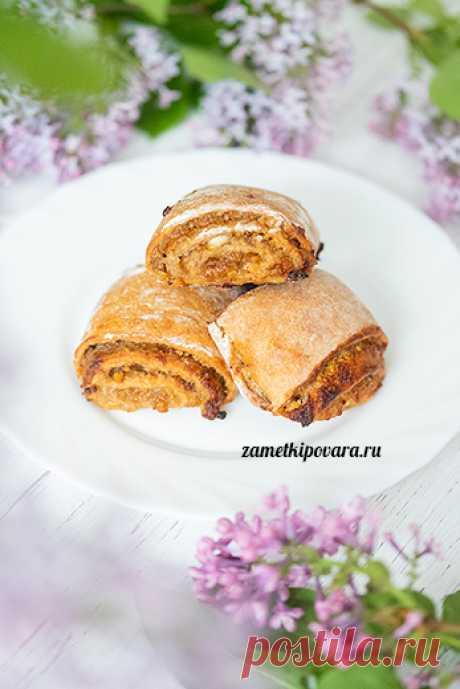 Яблочные рулетики | Простые кулинарные рецепты с фотографиями