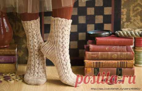 Женские ажурные вязаные носки «Vokuhila».