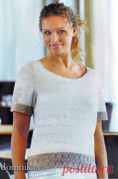 Вязание спицами летней кофточки для полных женщин - описание подробное
