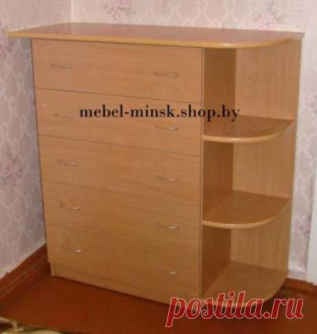 Высокий комод с угловыми полками «K-6» - Мебель в Минске, фото и цены