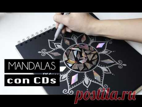 Mandalas con Cds - DIY - YouTube