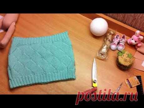 МК одежда для куклы из хомутика Фикс Прайс