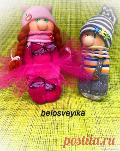 Куклы из носков   Разнообразные игрушки ручной работы