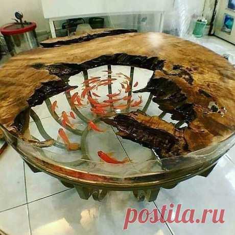 Самые красивые столы со смолой Модная одежда и дизайн интерьера своими руками