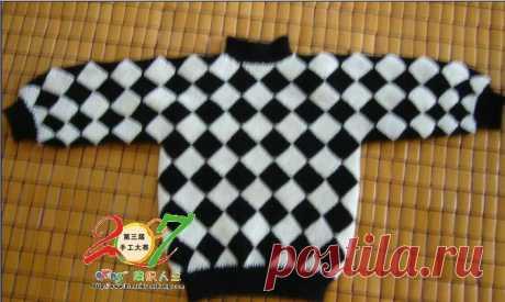 Children's pullover (patchwork)