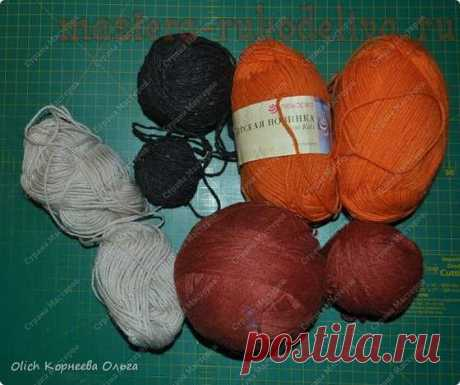 Master class in knitting by spokes: A knitted set for a doll