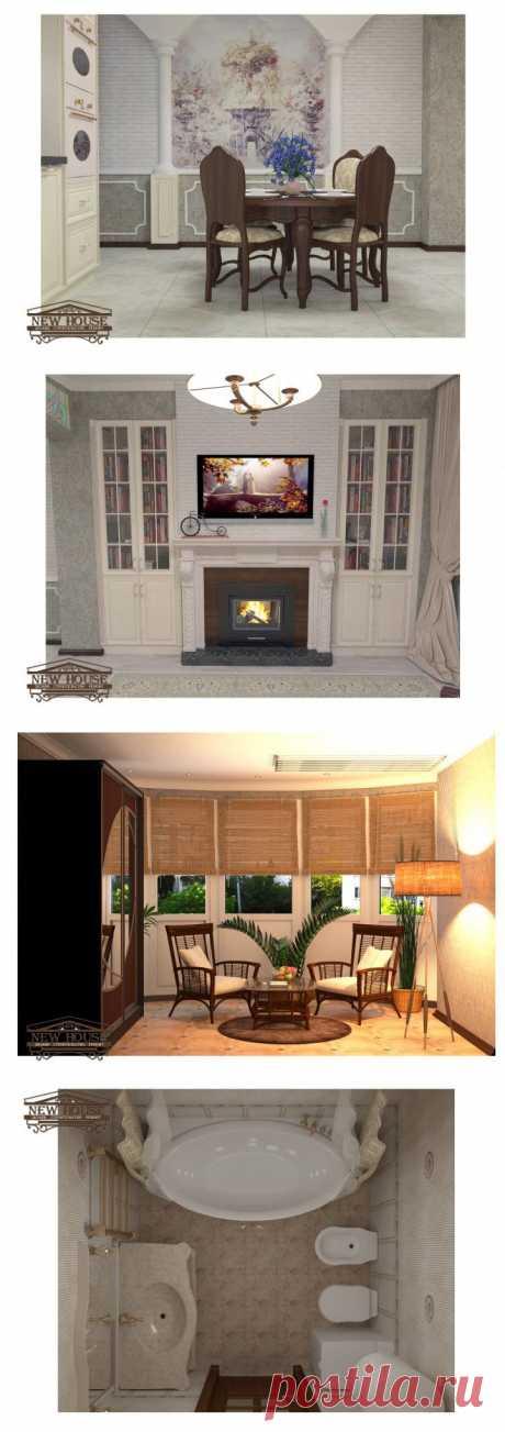 (+1) тема - Дизайн однокомнатной квартиры - новостройка | Школа Ремонта