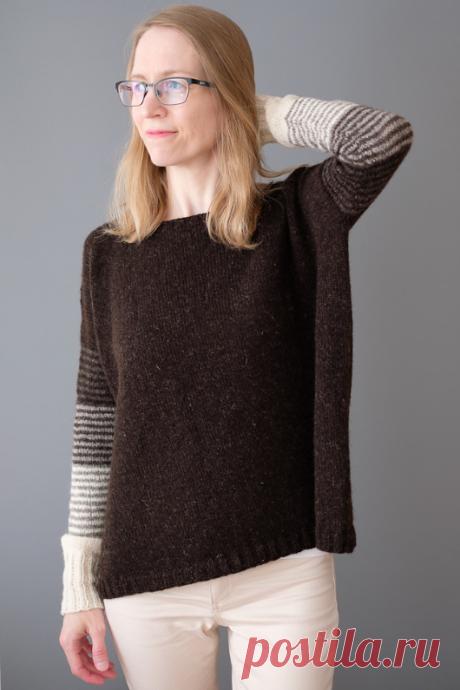 Вязаный пуловер GradientDip | ДОМОСЕДКА