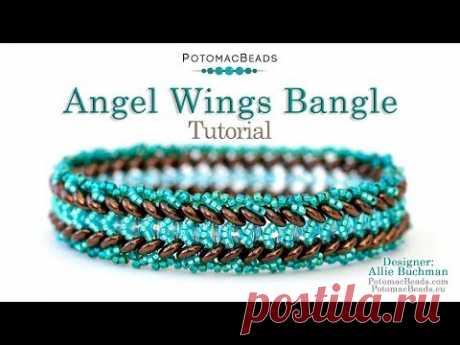 Angel Wings Bangle - DIY Jewelry Making Tutorial by PotomacBeads
