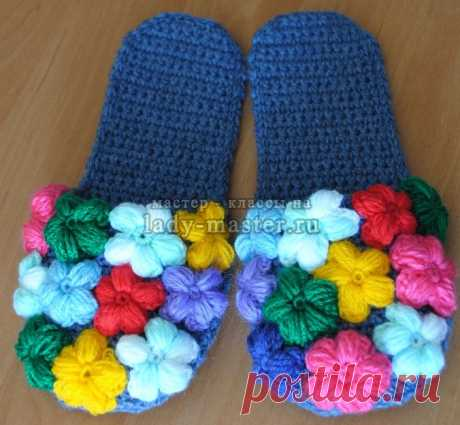 Flower Glade slippers a hook, the master - a class with a photo, step by step
