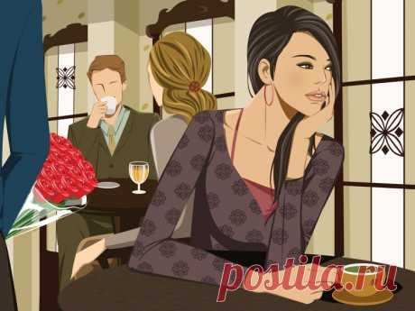 Одинокая девушка   Обои для рабочего стола
