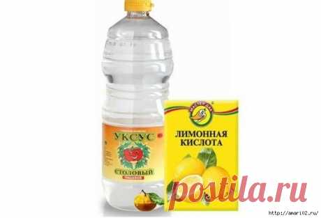 Если нужно развести лимонную кислоту вместо уксуса