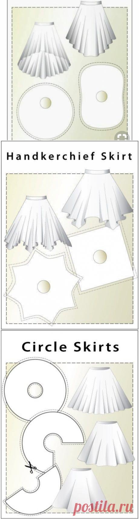 Моделирование оригинальных юбок на основе юбки-солнце — Сделай сам, идеи для творчества - DIY Ideas