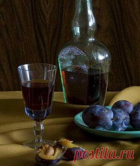 Вкусная домашняя сливянка на водке и спирту.