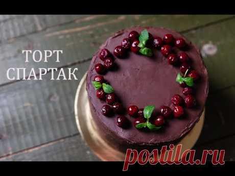 Торт Спартак с вишней : Шоколадный Медовик : Торт Спартак без раскатки коржей