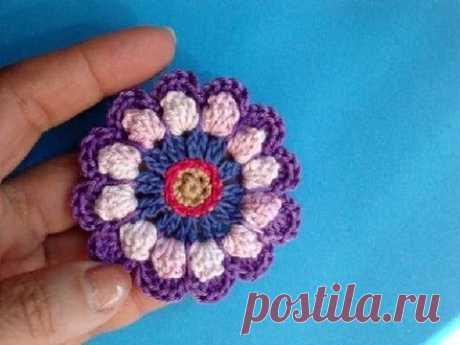 Сrochet flower pattern Вязаные цветы 63