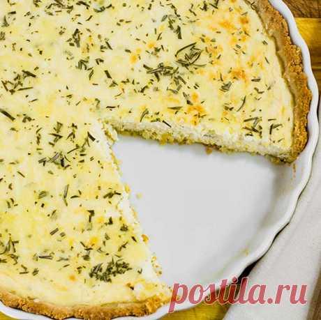 Рецепт сырного кето пирога (с подсчётом БЖУ)