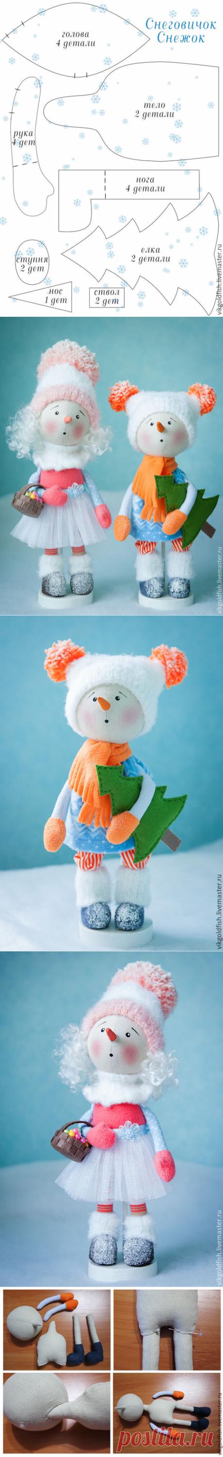 Мастер-класс: снеговичок Снежок своими руками – мастер-класс для начинающих и профессионалов