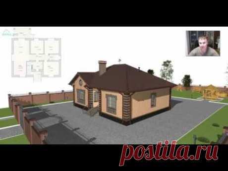 Одноэтажный дом «Спокойствие+» на 3 спальни B-385-ТП