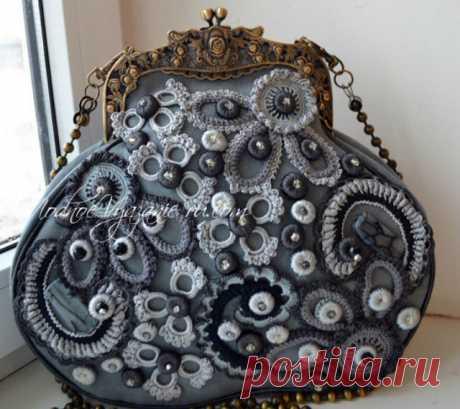 Как пришить вязаную сумку к фермуару - Modnoe Vyazanie ru.com