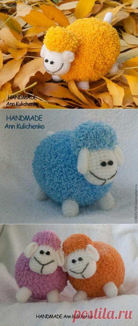 Схема вязания овечки. Вот такие мимишные овечки мне очень понравились)