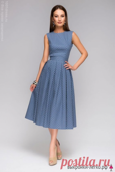 Como coser el vestido al novato | los patrones Preparados y las lecciones por la construcción en Выкройки-Легко.рф