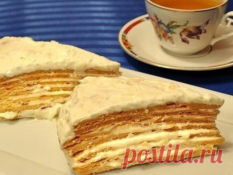 """Нежный и очень воздушный Торт """"Парижский коктейль». Этому тортику просто нет равных"""