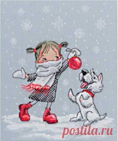 """Набор для вышивания крестом РТО """"В вальсе снежинок"""", 17x21 см"""