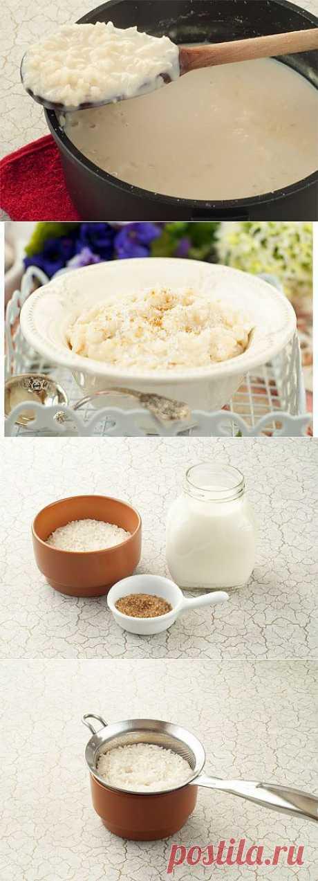 Рисовая каша на молоке. Вкусная и полезная рисовая каша на молоке — рецепт приготовления