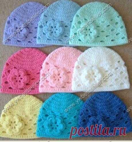 Летняя шапочка для девочки (Вязание крючком) | Журнал Вдохновение Рукодельницы