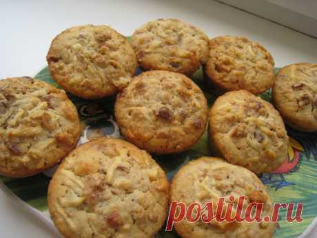 Нежные, воздушные и очень ароматные кексы с яблоками