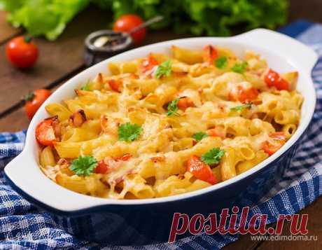 Запекаем макароны в духовке с разными добавками