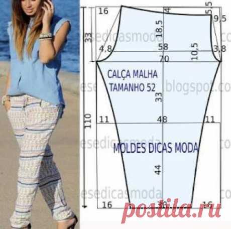Брюки, выкройки на размеры с 36 по 56 (евр.). Подборка фото Шитье | простые выкройки | простые вещи  #простыевыкройки #простыевещи #шитье #брюки #выкройка