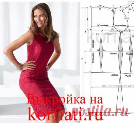 Выкройка-основа платья от Анастасии Корфиати