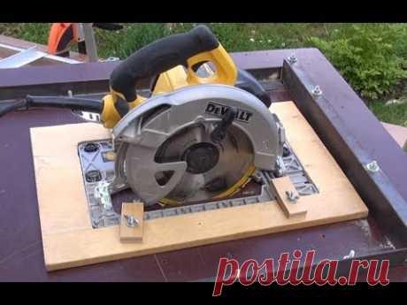 Установка ручной циркулярки и лобзика в стол. Быстро, просто, не дорого -). Часть1
