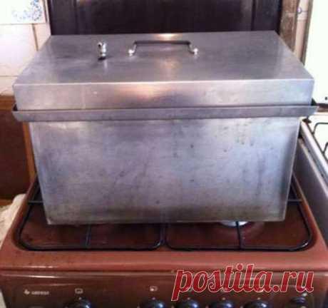 Домашняя кухонная коптильня для газовой плиты с гидрозатвором