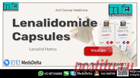 Lenalid manufactured by Natco contains Lenalidomide in it. Buy now Lenalidomide Capsules online from MedsDelta prominent exporter and supplier of cancer medicine online. Phone : +91-9971646666 and QQ: 3451266709 for order Lenalidomide Lenalid Natco at wholesale price. Prominent wholesalers of Lenalidomide Capsules at wholesale prices manufactured by Indian & multinational pharma companies